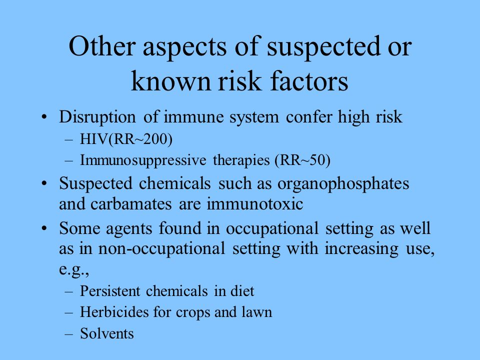 Other aspects of suspected or known risk factors