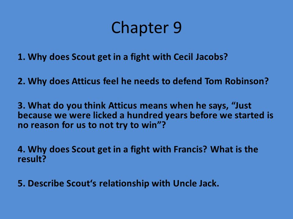 what does uncle jack give jem and scout relationship