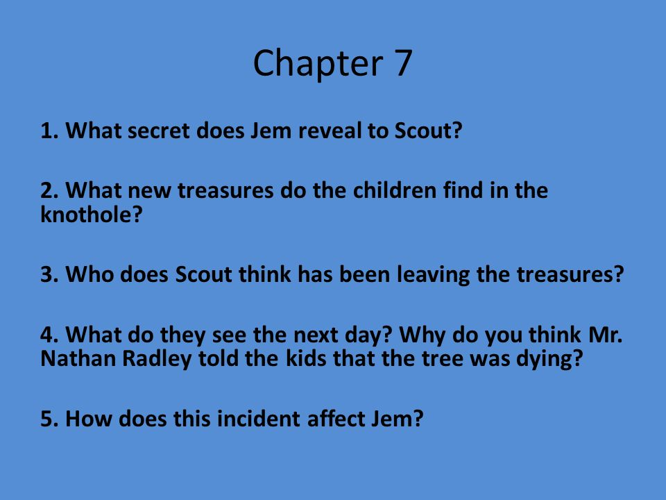 What did scout learn from jem