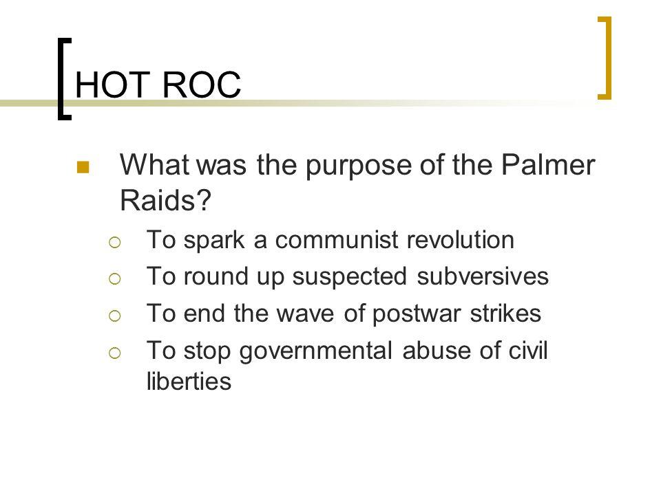 definition of palmer raids