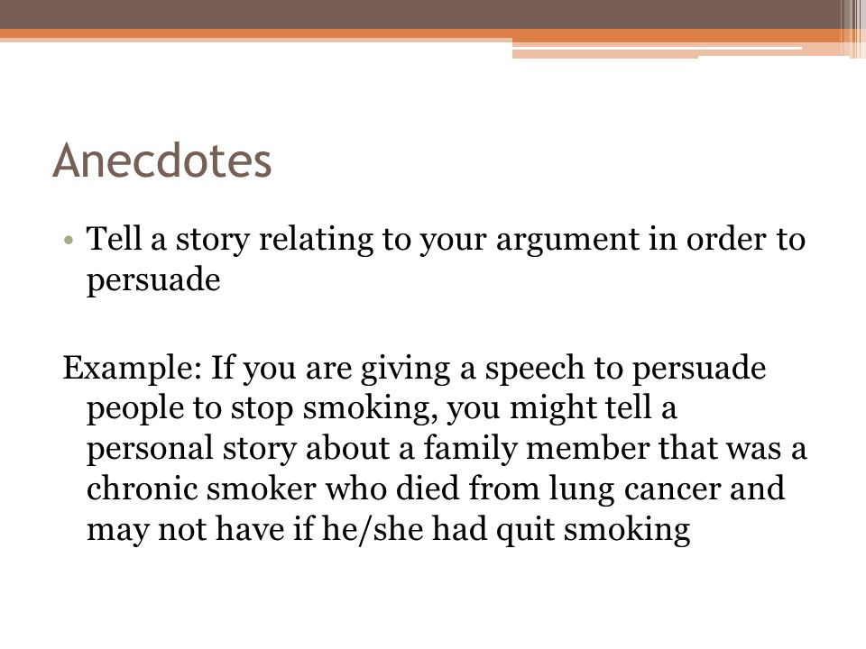 speech to the virginia convention ppt anecdotes tell a story relating to your argument in order to persuade