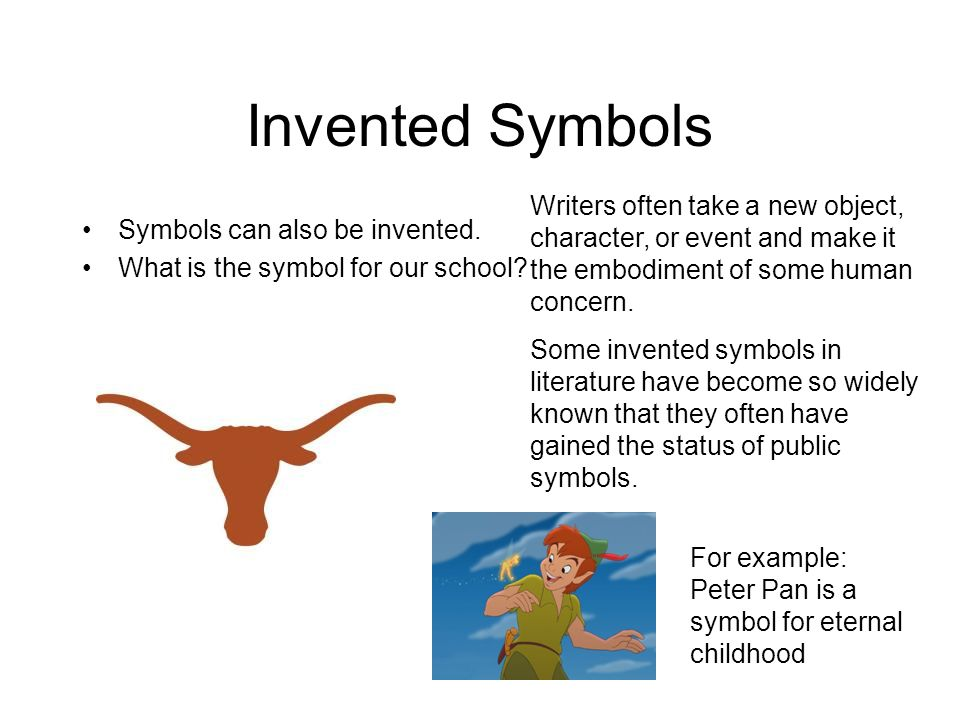 symbolism and allegory ppt video online  invented symbols writers often take a new object character or event and make it