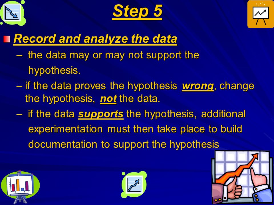 Step 5 Record and analyze the data the data may or may not support the