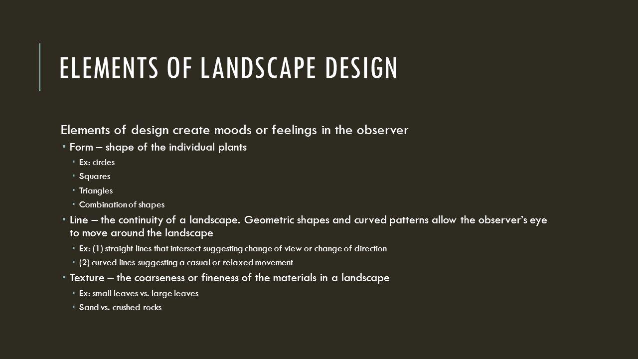 landscape elements and materials pdf