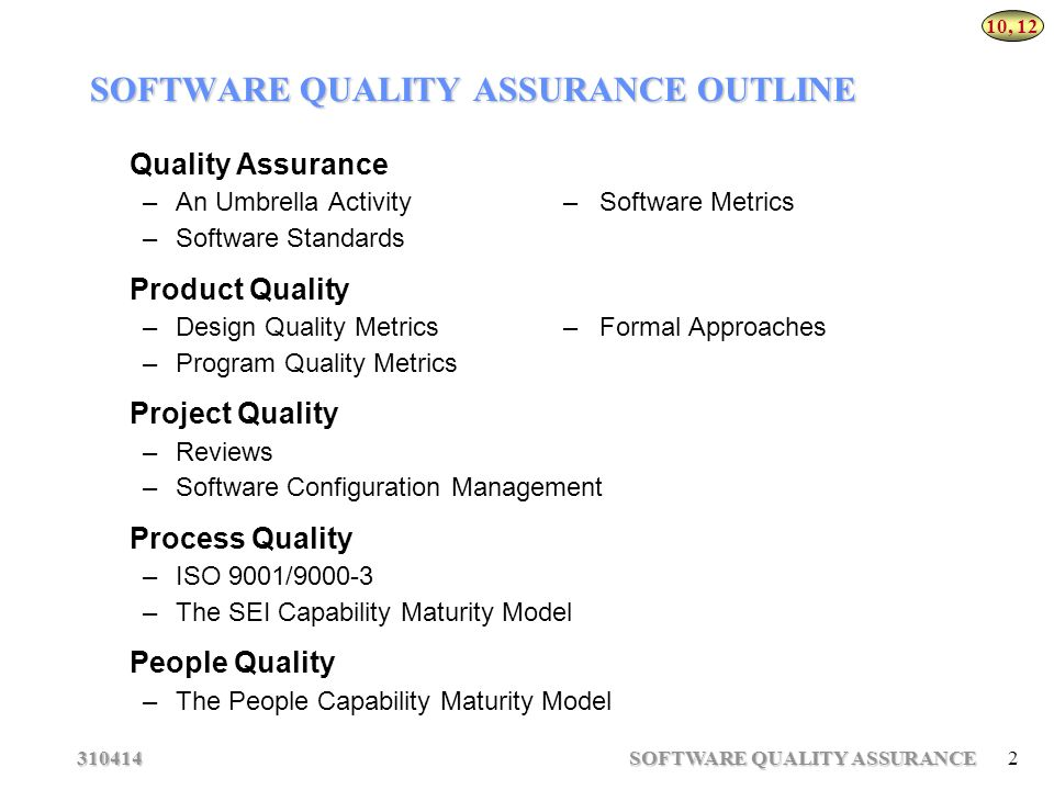quality assurance metrics template - software quality assurance ppt download