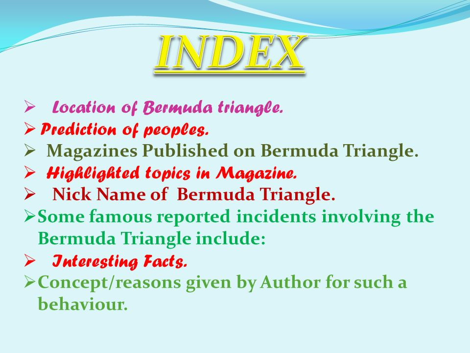 a brief history of bermuda triangle ppt video online  4 index