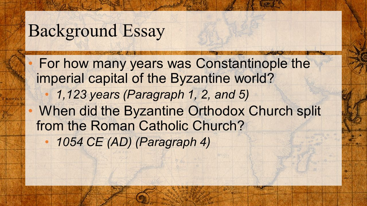 Essay for imperial church