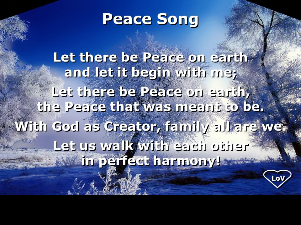 Let There Be Peace On Earth Hymn Welcome to Unit...