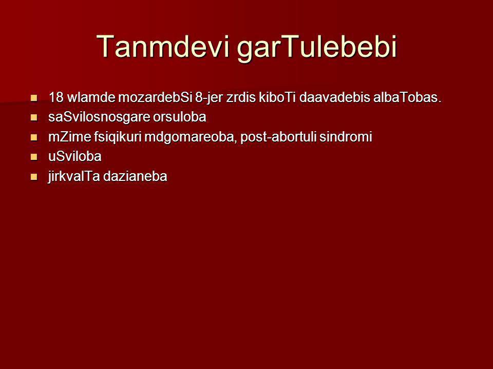 Tanmdevi garTulebebi 18 wlamde mozardebSi 8-jer zrdis kiboTi daavadebis albaTobas. saSvilosnosgare orsuloba.