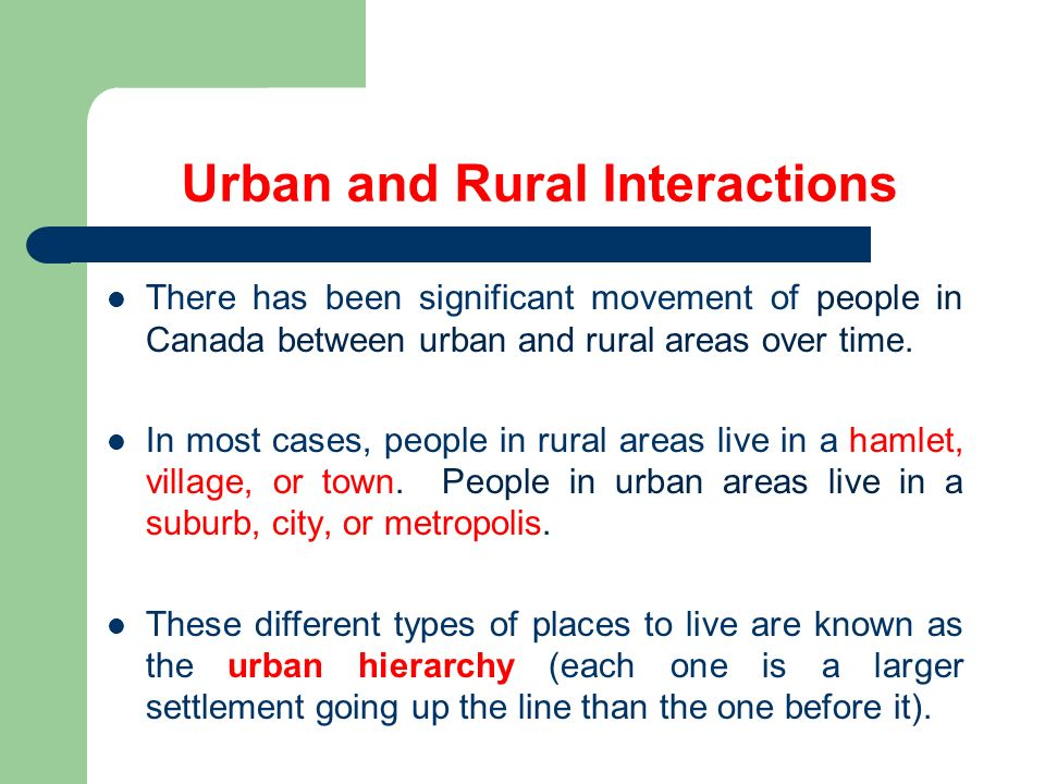 difference between rural and urban consumers