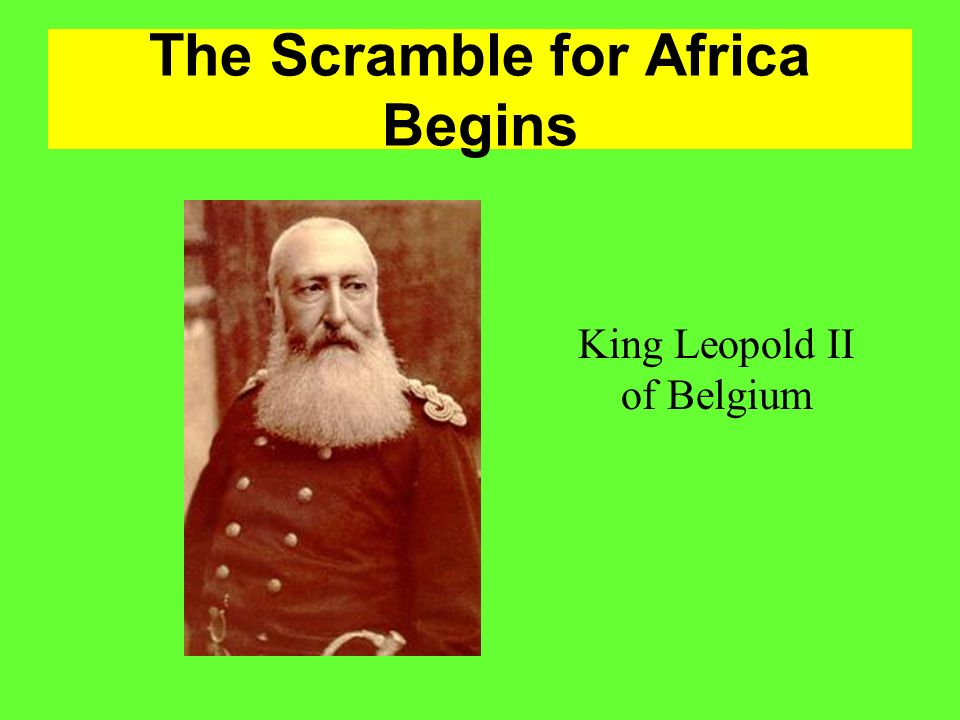 The Scramble for Africa Begins