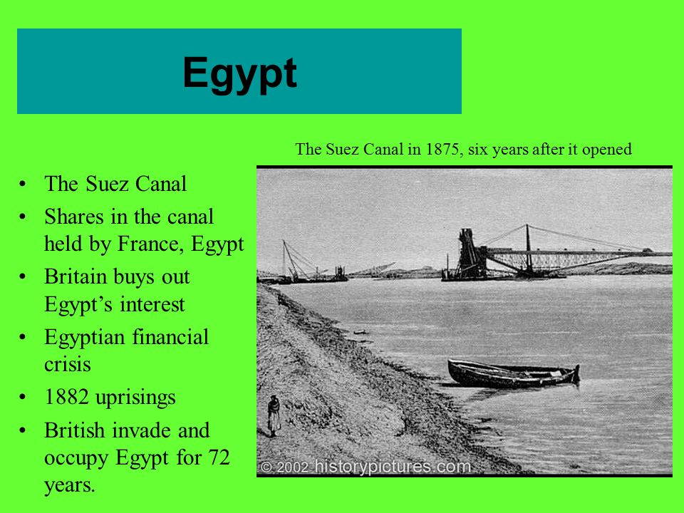 The Suez Canal in 1875, six years after it opened
