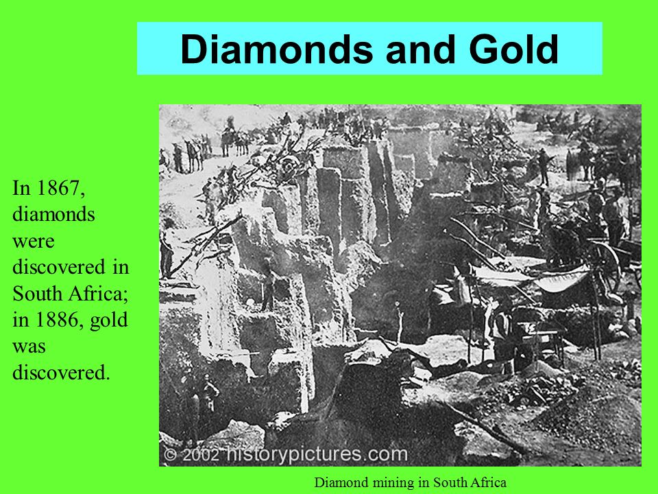 Diamond mining in South Africa
