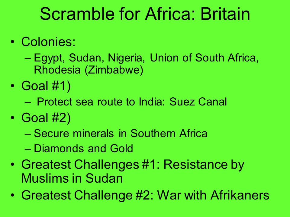 Scramble for Africa: Britain