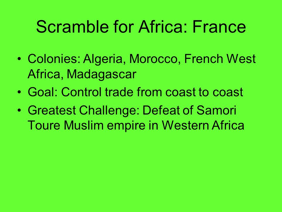 Scramble for Africa: France