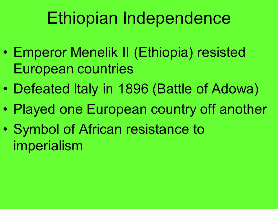 Ethiopian Independence