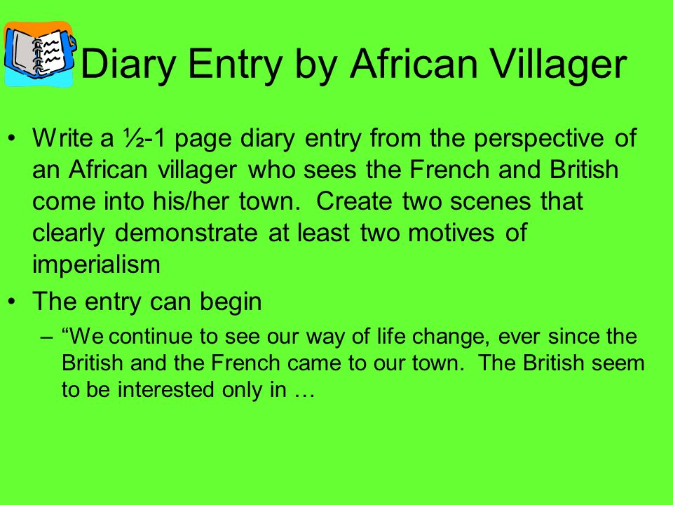 Diary Entry by African Villager