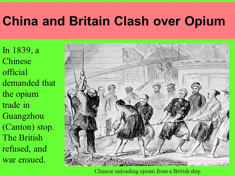 China and Britain Clash over Opium