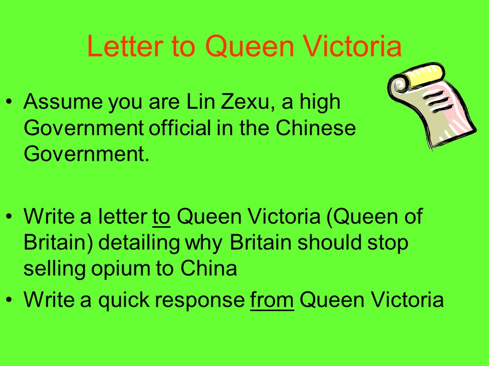 Letter to Queen Victoria