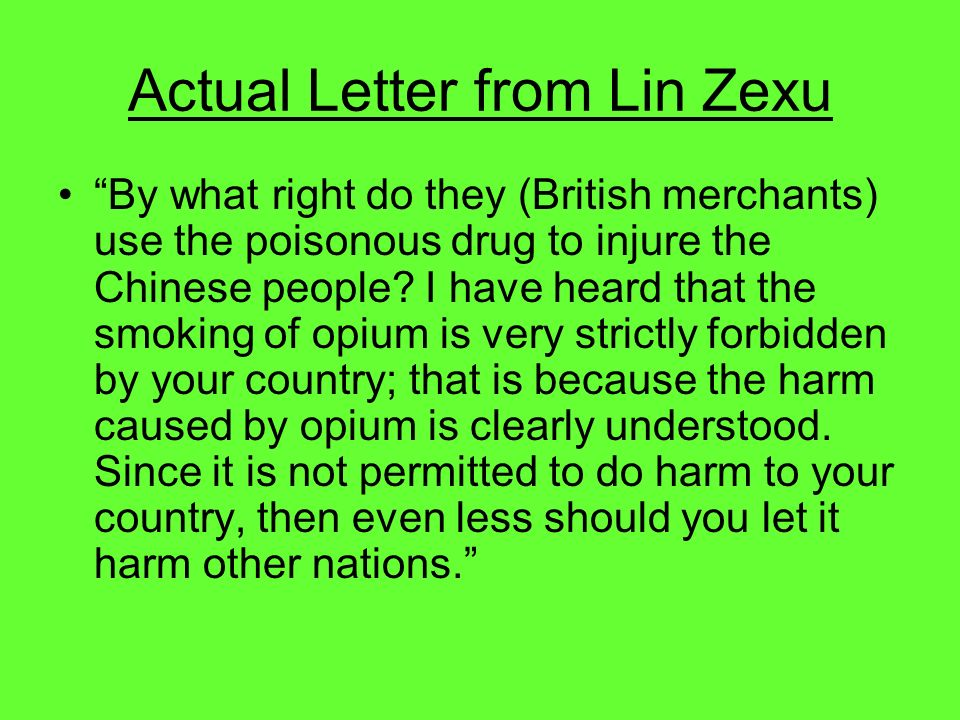 Actual Letter from Lin Zexu