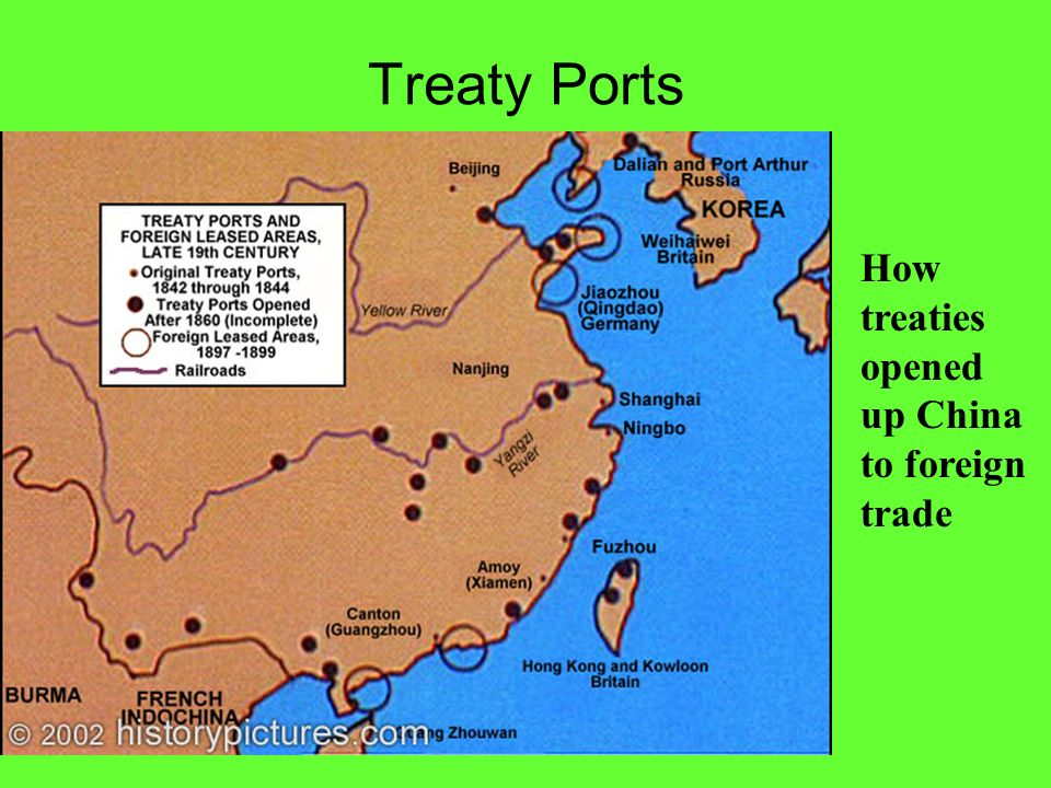 Treaty Ports How treaties opened up China to foreign trade