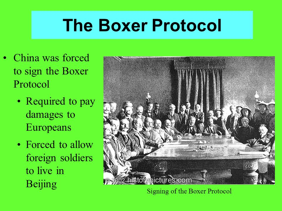 Signing of the Boxer Protocol