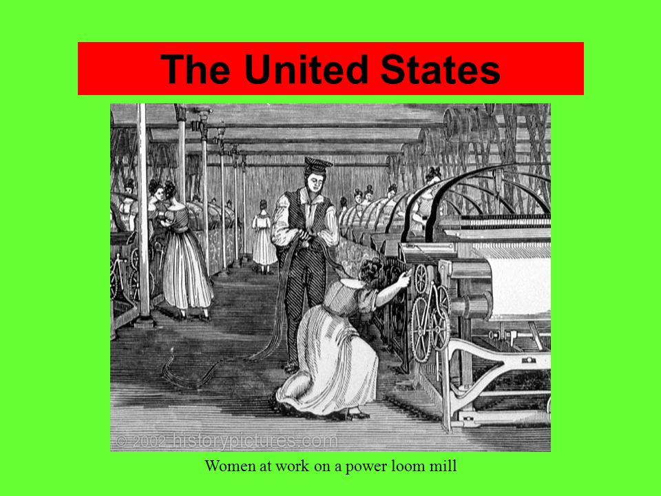 Women at work on a power loom mill