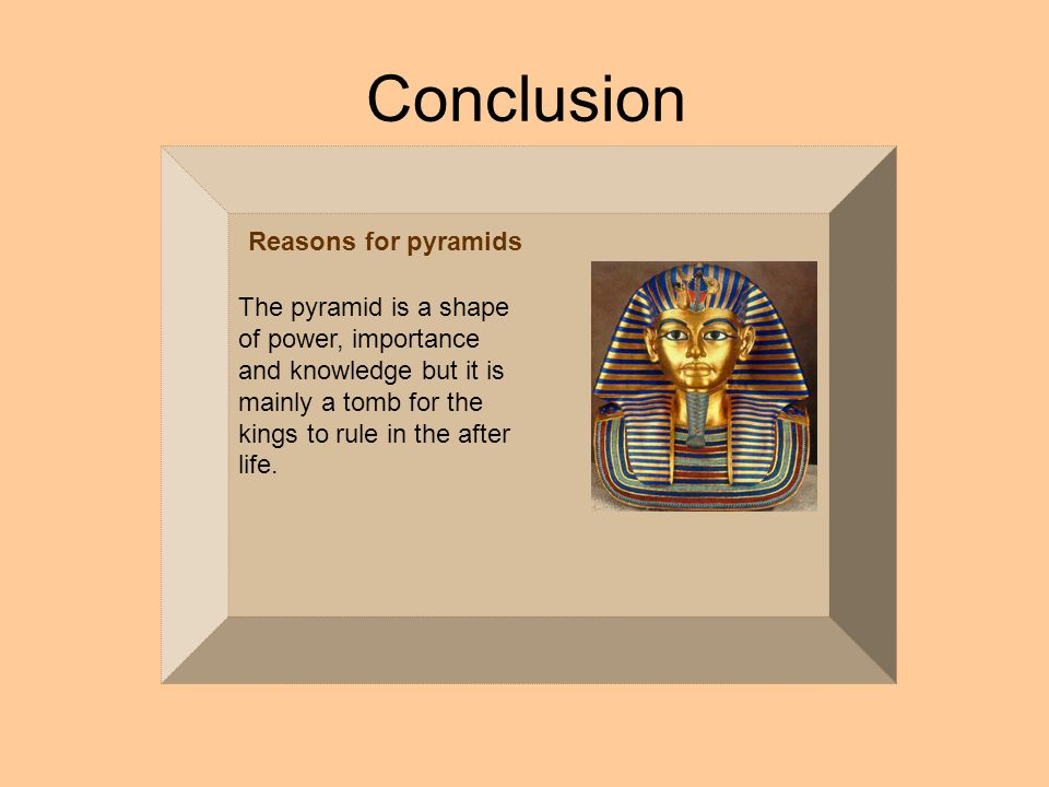 ancient egypt conclusion The debate on whether the ancient egyptians influenced or migrated to west  africa has been studied by  in conclusion this research accepts the following.