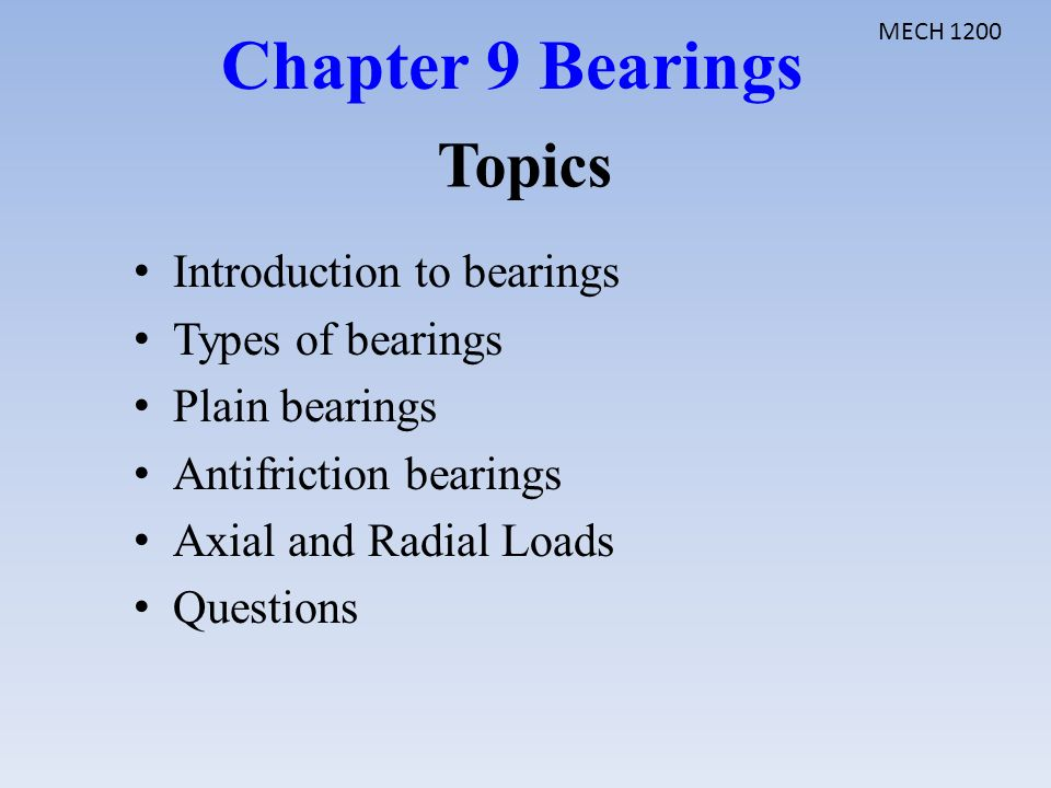 Bearing presentation ppt.