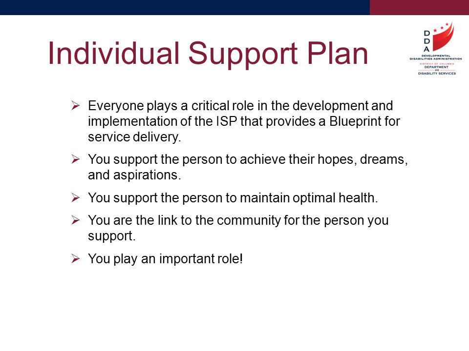 A blueprint for service delivery ppt video online download 17 individual support plan malvernweather Image collections