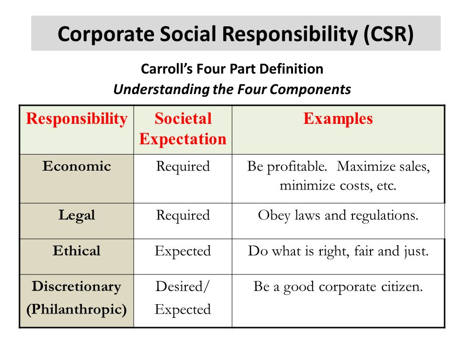 four corporate social responsibility Academic paper the four pillars of corporate responsibility: ethics, leadership, personal responsibility and trust e isaac mostovicz, andrew kakabadse and nada k kakabadse e isaac mostovicz is based abstract at janus thinking ltd, purpose – this paper aims to examine how to further embed csr thinking and practice into.