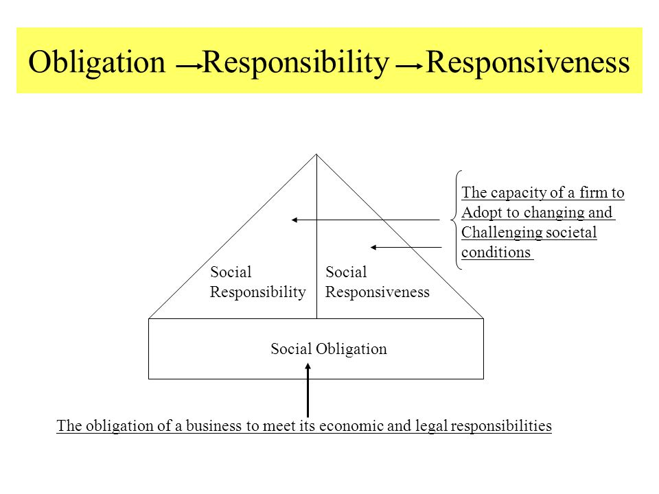 the ethical obligation of business to the environment essay Business ethics and social  how to create an ethical work environment  practices in society and particularly in the natural environment business for social.