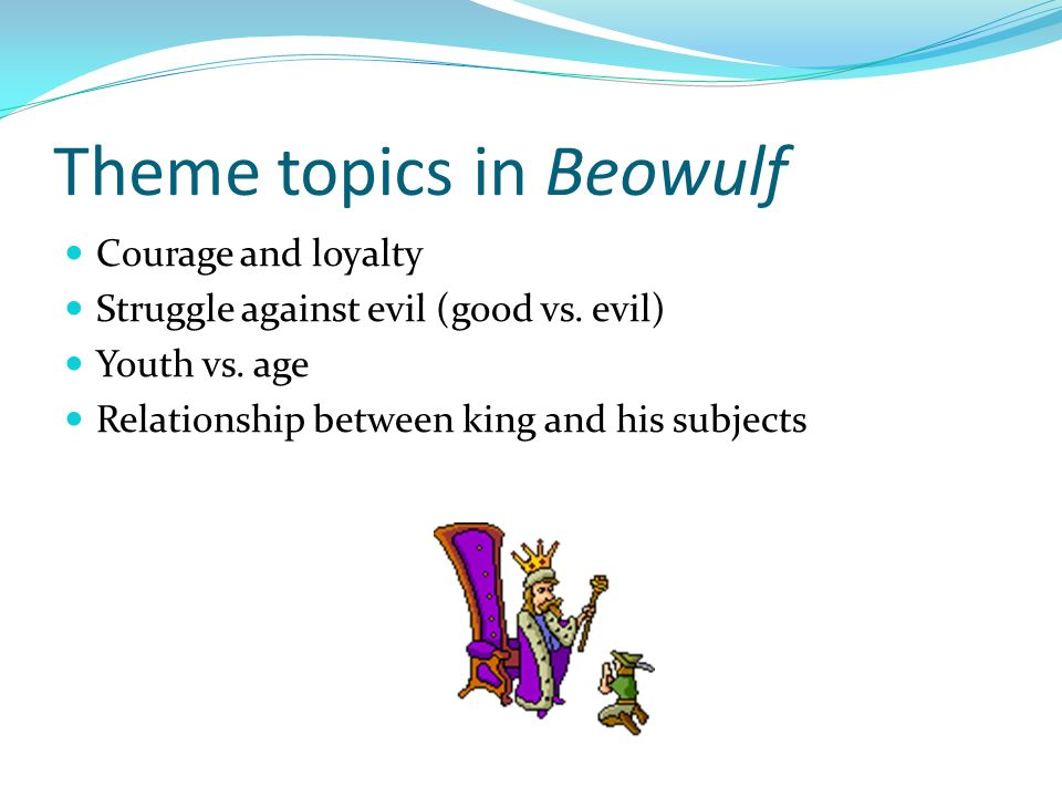 a central theme of good versus evil in beowulf Download thesis statement on beowulf: good vs evil in our database or order an original thesis paper that will be written by one of our staff writers and delivered.