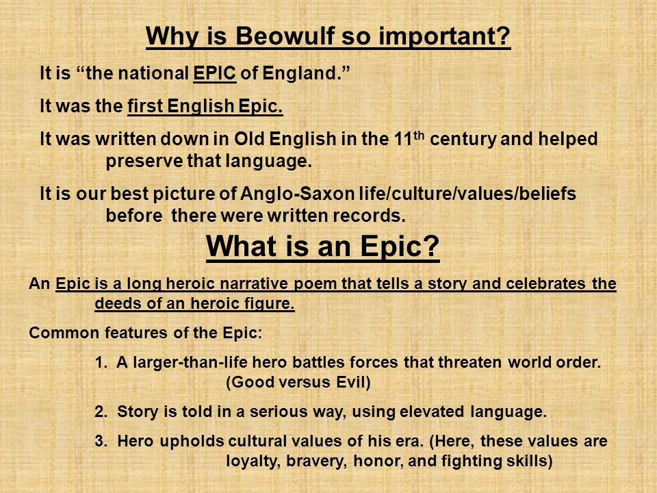 Exploring the main theme of beowulf