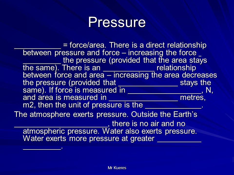 relationship between air pressure and atmosphere