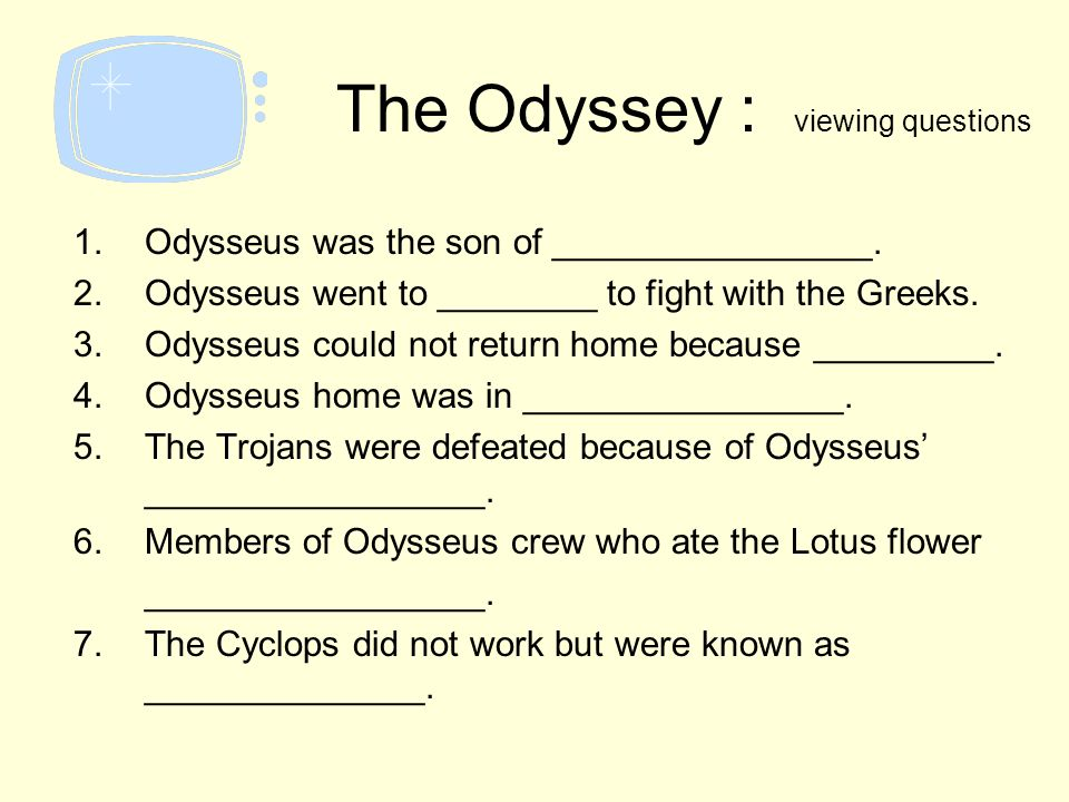 odyssey and odysseus return home Transcript of why did it take odysseus so long to get home the odyssey odysseus and his men designed by péter puklus for prezi  odysseus actually did want to go home and he had tried everything to return home as soon as possible work cited homers' odyssey greecemrdonnorg 8-9-04 web 9-18-13.