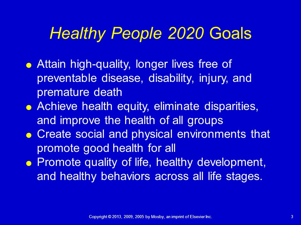 healthy people 2020 Healthy people program healthy people is a program of a nationwide health-promotion and disease healthy people 2010, and healthy people 2020.