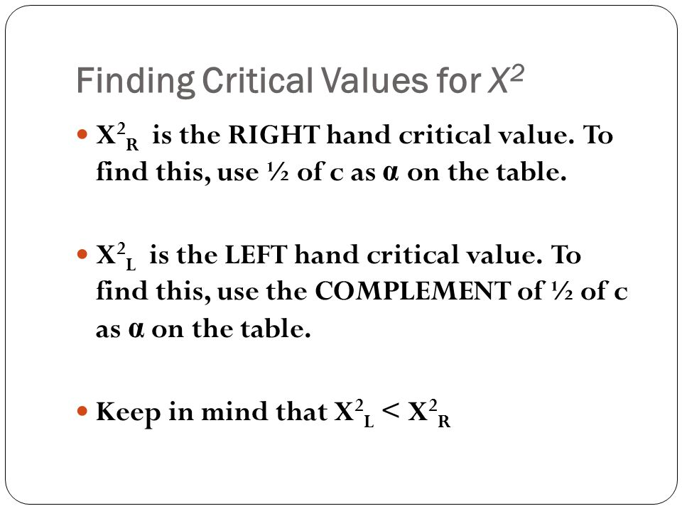 how to find tbe critical value