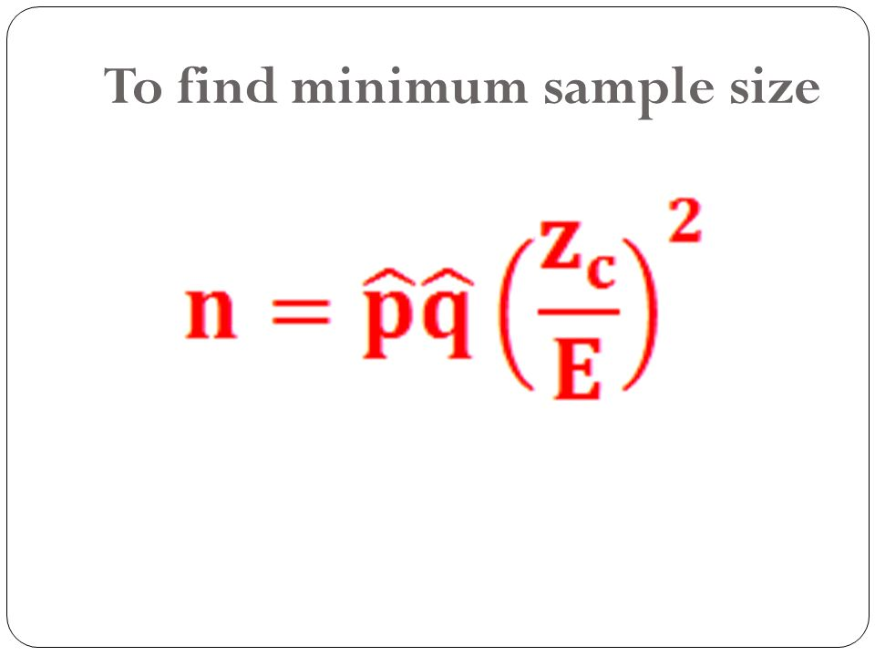 how to find the minimum sample size