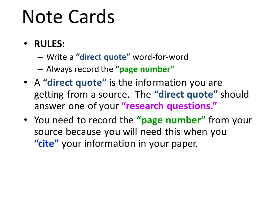 quote cards for research paper Steps in writing a research paper finding sources this way you can take the note cards and organize them later according to when you paraphrase or quote.
