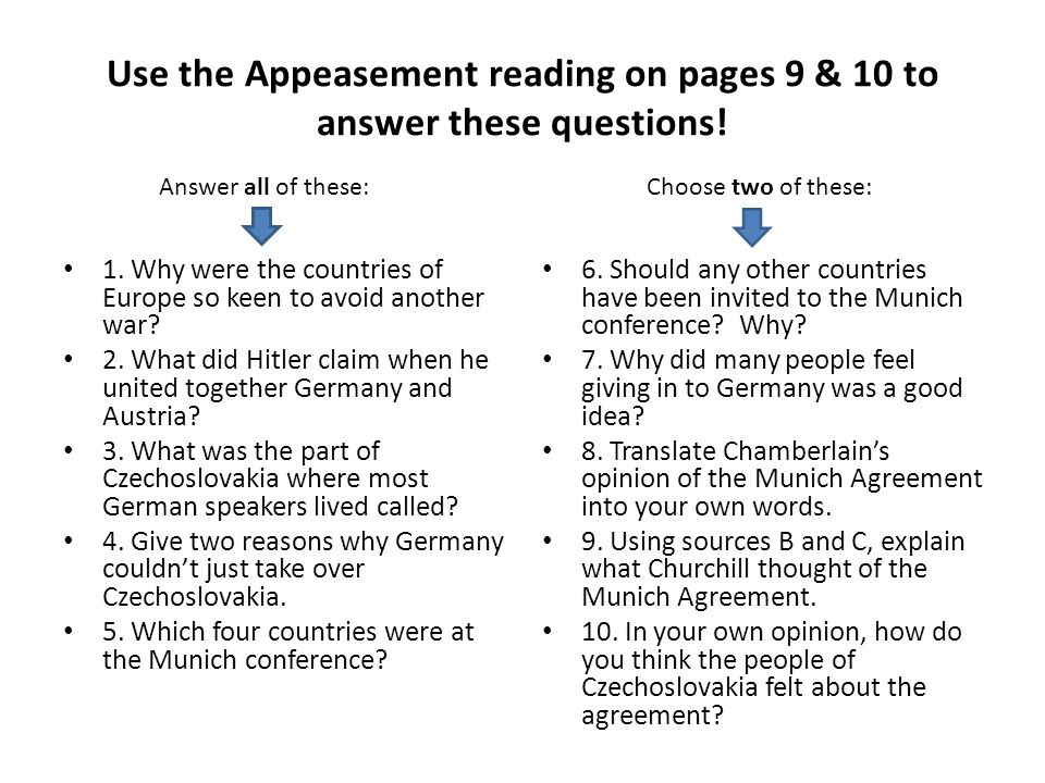 use the appeasement reading on pages 9 10 to answer these questions ppt video online download. Black Bedroom Furniture Sets. Home Design Ideas