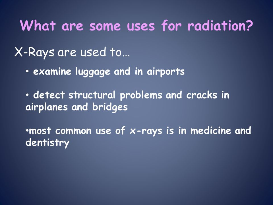 x rays how to detect