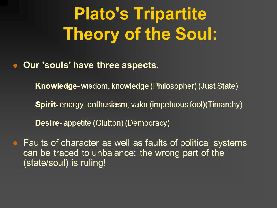 Platos tripartite soul