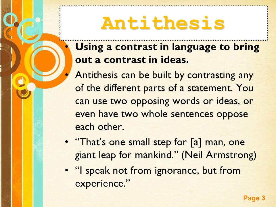 using antithesis in writing Displaying 8 worksheets for antithesis worksheets are work 11a antithesis, chapter eight the antithesis exercise, lesson plan unit 9 rhetoric, the anaphora work.
