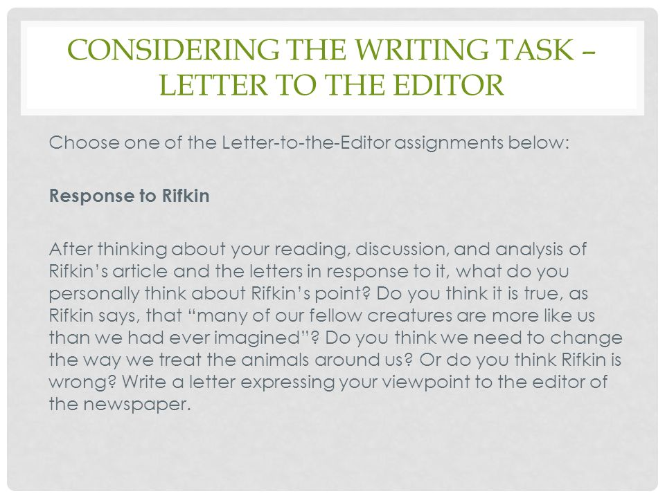 Finding an audience: Write a letter to the editor or government official