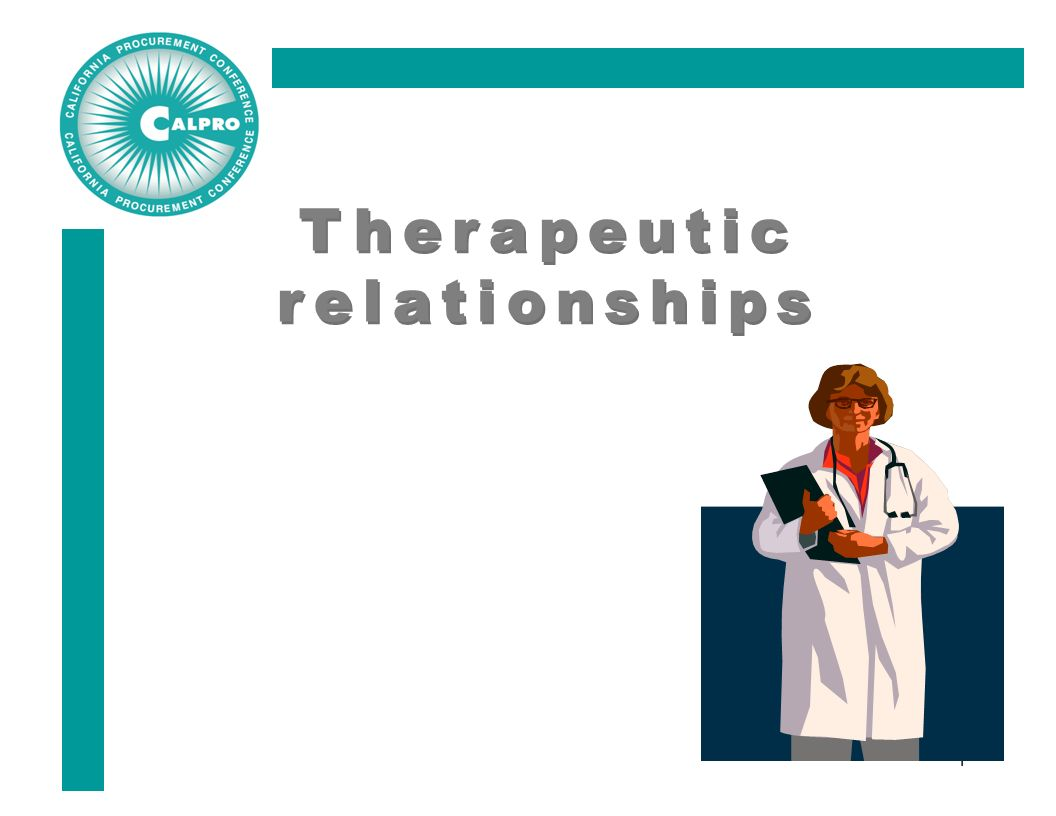 the theraputic relationship