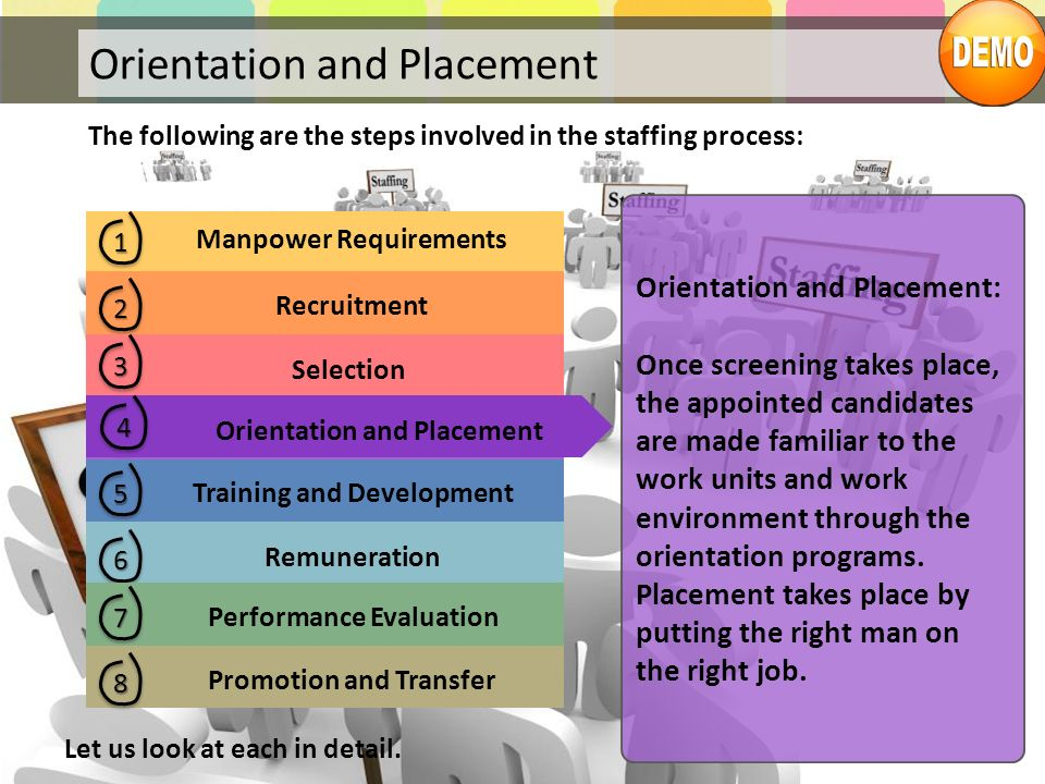 Orientation and Placement