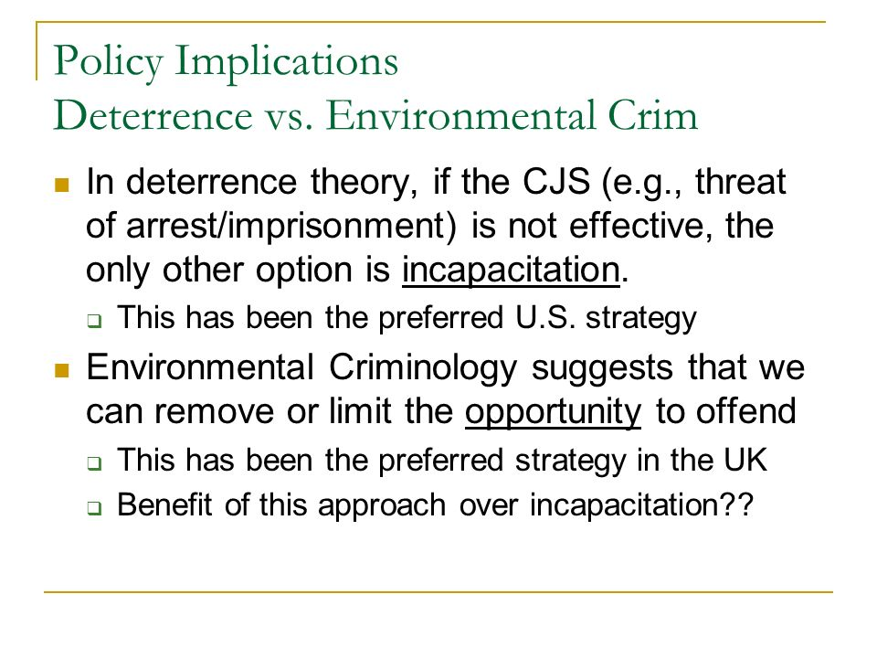 rational choice and deterrence theory criminology essay The rational choice theory of criminology fbi uniform crime report: definition, pros & cons  according to supporters of the deterrence theory, punishment can be used as a proactive tool to stop.