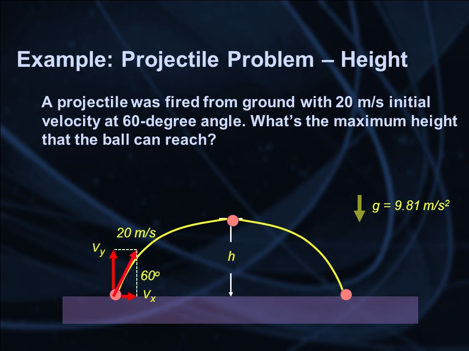 Example: Projectile Problem – Height