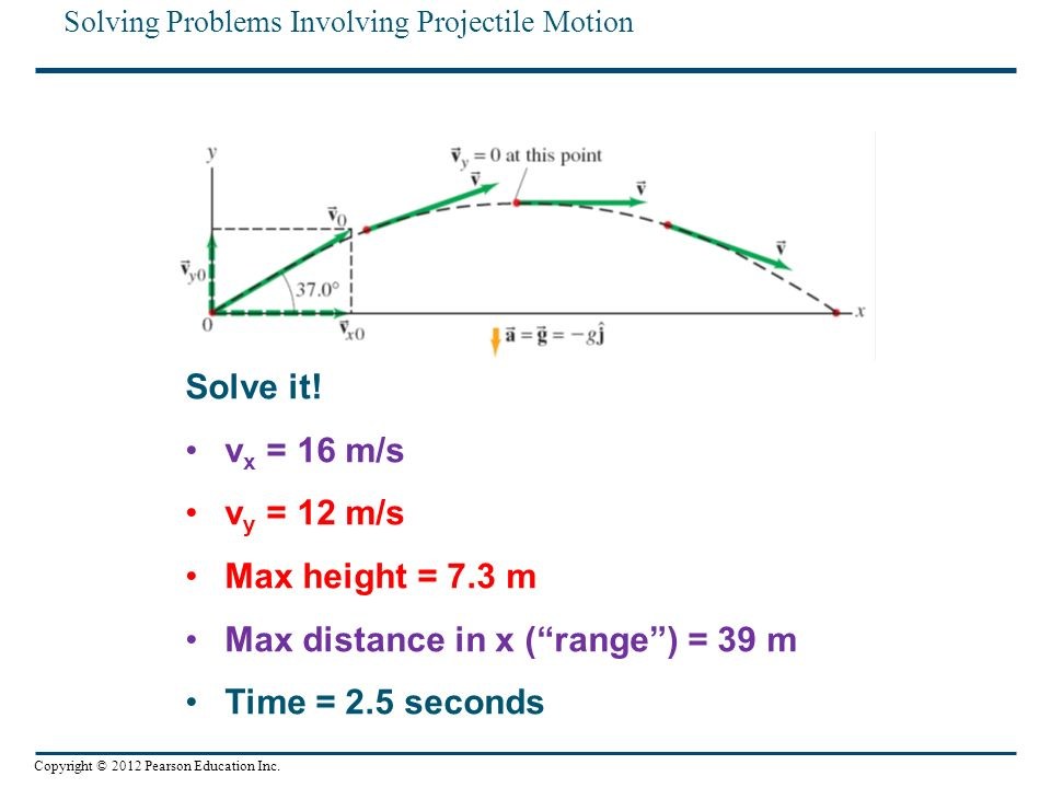 how to find max height of a projectile